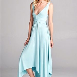 Dresses - NEW! Azure Blue Asymmetrical Dress